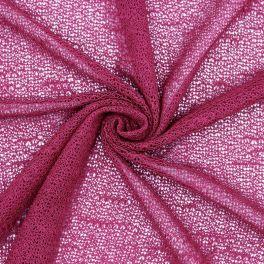 Tissu maille légère framboise
