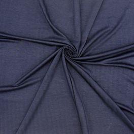 Tissu jersey viscose marine à rayure