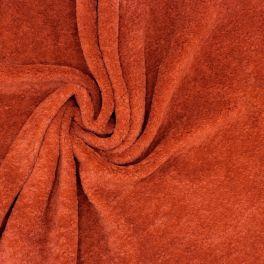 """Tissu polyester """"peluche"""" uni  rouille"""