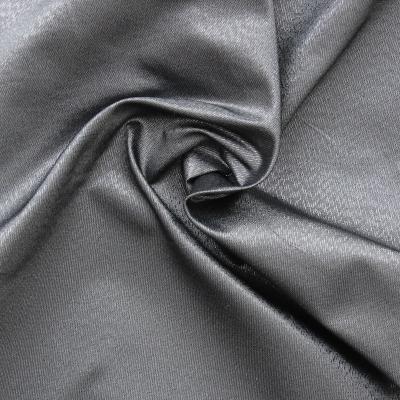 Taffetas changeant métal gris argent