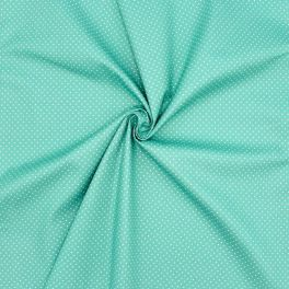 Cotton with dots - turquoise background
