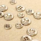 Knoop in metaal - zilver