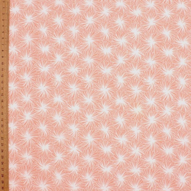 Cotton fabric with floral print - pink