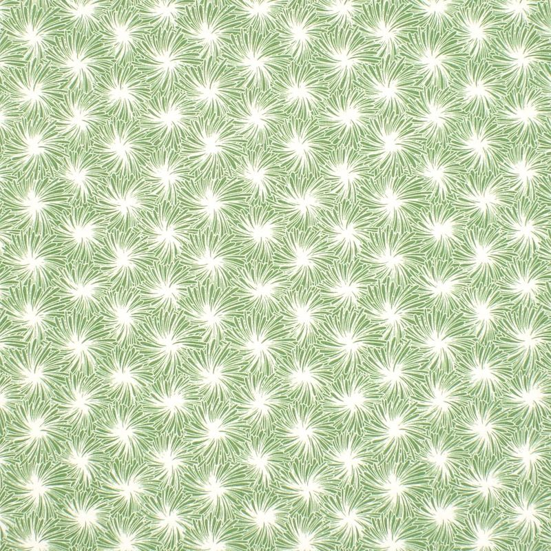 Cotton fabric with floral print - green