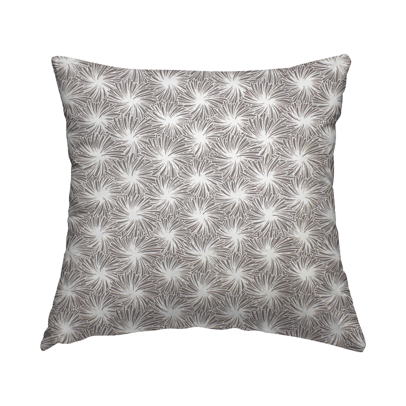 Cotton fabric with floral print - grey