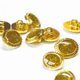 Bouton aspect métal doré et jaune Chartreuse