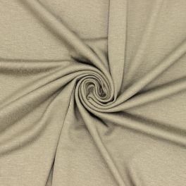 Cotton jersey fabric - light khaki