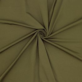 Cotton jersey fabric - khaki