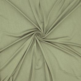 Crumpled jersey fabric - khaki
