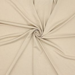 Cotton jersey fabric - beige