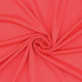 Cotton jersey fabric - coral
