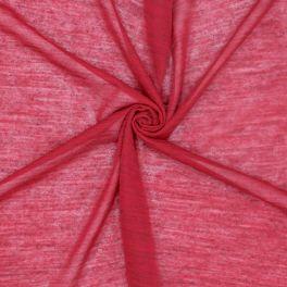 Tissu jersey léger rouge