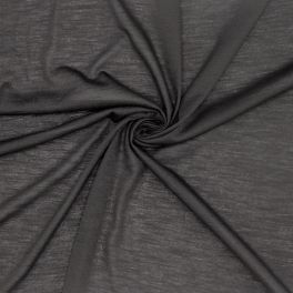 Gevlamd jerseystof - zwart