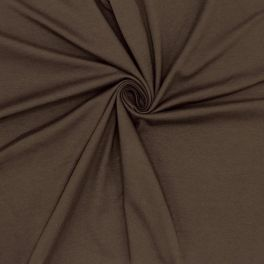 Jerseystof - effen bruin