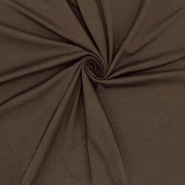 Tissu jersey uni brun