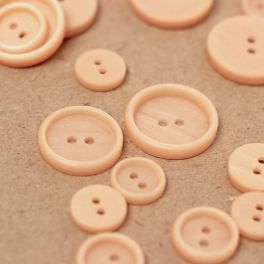 Round button - pink skin color