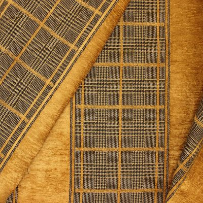Chenille jacquard upholstery fabric - camel