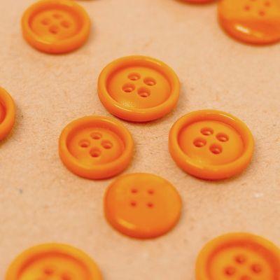 Bouton en résine nacrée orange
