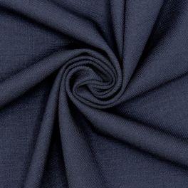 Rekbare kledingstof - marineblauw