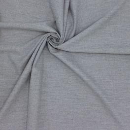 Rekbare stof met aspect van wol - gespikkeld grijs