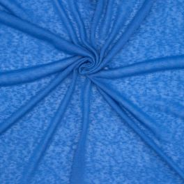 Gevlamd jerseystof - blauw