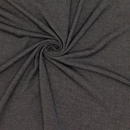 Jersey fabric with denim effect - black