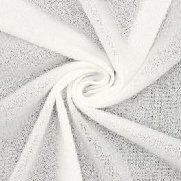 Knit fabric in wool - white
