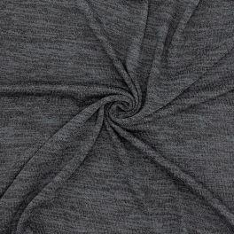 Tissu maille gris chiné