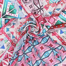 Polyester jerseystof met geometrische motieven