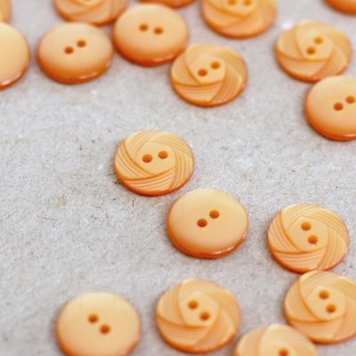 Fantasy button - manadarine orange