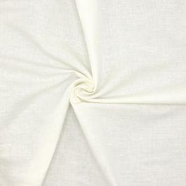 Tissu vestimentaire en lin blanc
