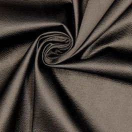 Extensible fabric with embossed reptile pattern - black