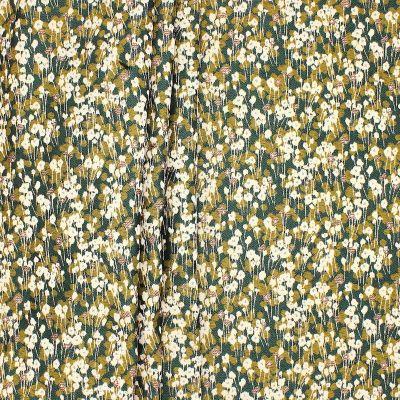 Tissu jacquard petite fleur fil brillant
