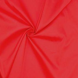 Tissu coton stretch rouge