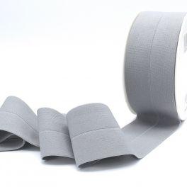 Elastique pré plié 60mm gris