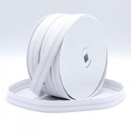Elastique boutonnière blanc