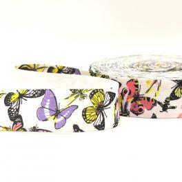 ceinture élastique imprimé papillon