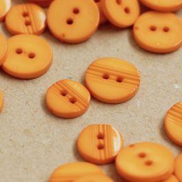 Boutons fantaisie en résine orange