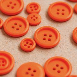 Round resin button - orange