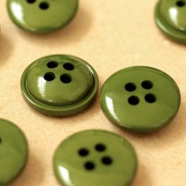 Round resin button 25mm - khaki