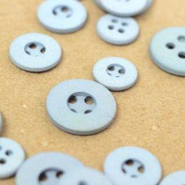 Resin button - mottled light blue