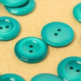 Boutons en résine bleu sarcelle