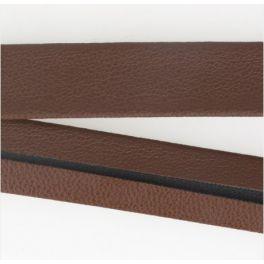 Faux leather bias binding - brown