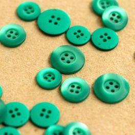 Bouton en résine vert