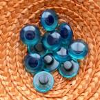 Bouton oeil bleu