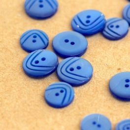 Round button - pearly blue