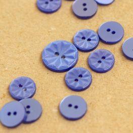 Round resin button - lavender blue