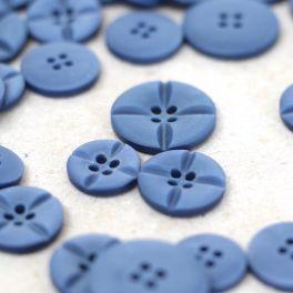 Resin button - Azure blue