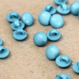 Bouton en résine bleu de 9mm