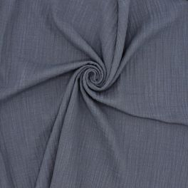 Tetrastof met linnen effect - blauw